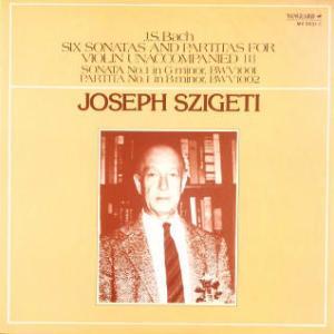 ◇クラシック音楽LP◇シゲティのバッハ:無伴奏ヴァイオリンのためのソナタとパルティータ(全曲)