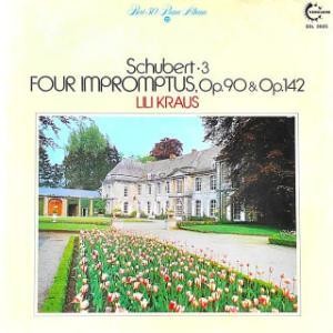 ◇クラシック音楽LP◇リリー・クラウスのシューベルト:即興曲op.90&op.142