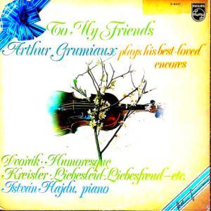 ◇クラシック音楽LP◇アルテュール・グリュミオーの珠玉のヴァイオリン小品集