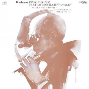 ◇クラシック音楽LP◇ロストロポーヴィッチ、コーガン、ギレリスによるベートーヴェン:ピアノ三重奏曲第7番「大公」