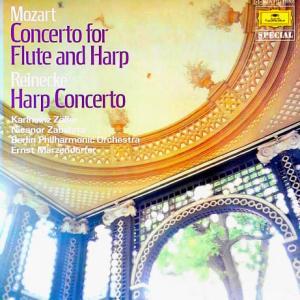 ◇クラシック音楽LP◇ツェラー&サバレタのモーツァルト:フルートとハープのための協奏曲/ライネッケ:ハープ協奏曲