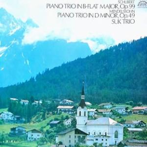 ◇クラシック音楽LP◇スーク・トリオのシューベルト/メンデルスゾーン:ピアノ三重奏曲第1番