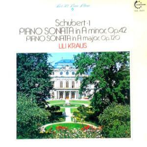◇クラシックLP◇リリー・クラウスのシューベルト:ピアノソナタ第16番/第13番