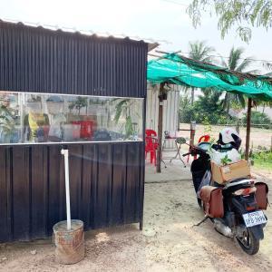 道中の休息場所、カフェーと食堂。