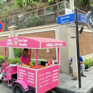 ウエダコーヒー(プサーデポの西側)移動販売車さん。
