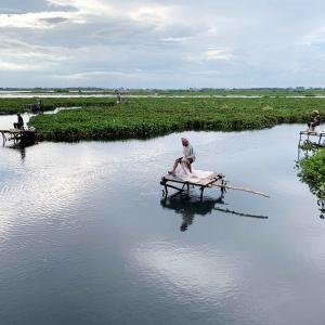 プノンペンの池と沼地と冠水の関係を考えてみました。