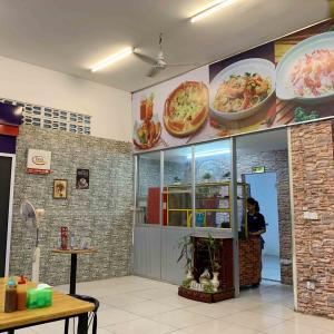 ローカルのパスタとピザのお店。