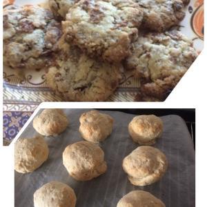 スコーンとコーンフレーククッキー