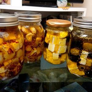 クリームチーズのオリーブオイル漬け作ってみた‼️