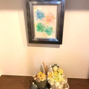 魂の絵、届いた日に玄関に飾りました!〜お写真をありがとうございます!