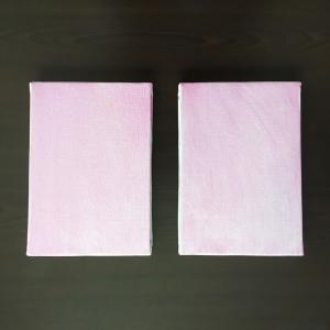 【制作工程】双子の油絵「つづみぼし」ができるまで♪
