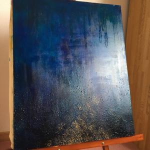 油絵「光へ還る」