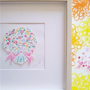 【今年の販売は母の日まで。】原画、花の絵シリーズ。