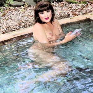 露天風呂の温泉に入るのって、大好き