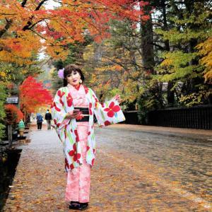 角館、着物で紅葉狩りの旅