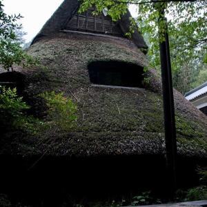 竪穴式住居カフェ「まだま村」。