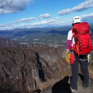 妙義山 登山[ロープワークと夜間登山訓練]