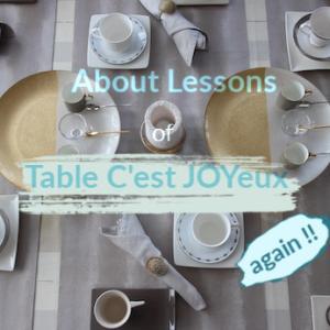 再掲…テーブルセジョワイユのレッスンについて♡