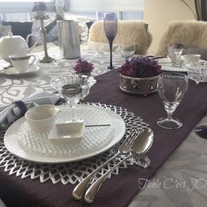 同級生との束の間ランチ…Pink&Purpleテーブル