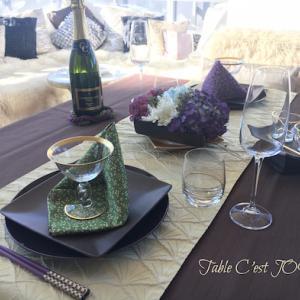 リメイクテーブル4*イントロレッスン2019年12月…紫陽花で和洋折衷テーブル