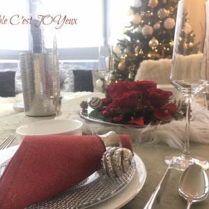 リメイクテーブル5*秋冬3回目レッスン2019年12月…赤薔薇でモダンクリスマステーブル