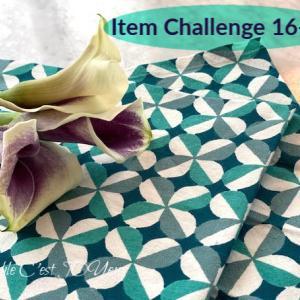 アイテムチャレンジ16−①(グリーン柄ナプキンとパープルCalla)