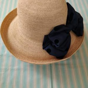 今日はツバ広麦わら帽子♪~Shokoの新作