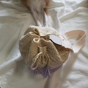 すてきにハンドメイドのリーフィー巾着バッグ完成