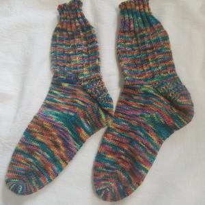 アレグリアで編む靴下。