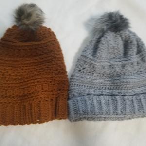 かぎ針編み帽子2種