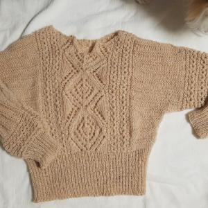 WHIPSで編むドルマンセーター完成