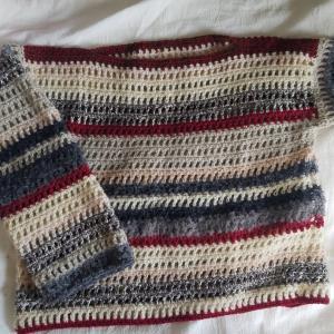 余り糸セーター完成