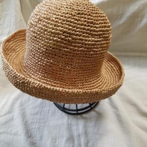 マニラヘンプヤーンの帽子、編み上がり。