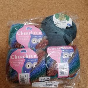 去年秋の毛糸だまから編む予定。