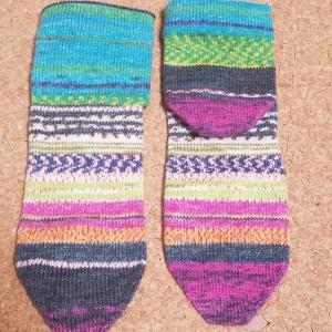 plain vanilla socks やっと一足目完成