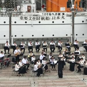【御礼】帆船日本丸演奏会 カナデ&セレーネスペシャルバンド出演