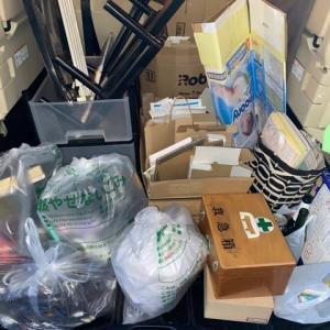 大量のゴミを運びました