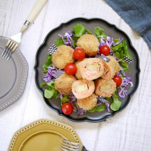 簡単だけど豪華に見えるパーティレシピ【明太子とサツマイモのライスコロッケ】