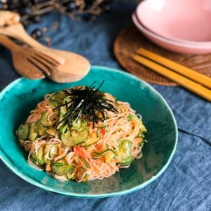 チャチャっと作れる夏の副菜2選めんたい春雨サラダ】【おつまみポテサラ】
