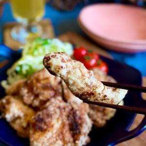 お買い得!鶏むね肉を格上げ〜っ\( ˆoˆ )/な、梅ガーリックなズボラ唐揚げ