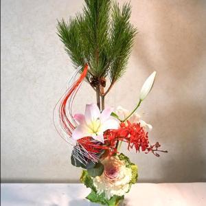 簡単生け花・お正月花を生けよう(今から少しずつ準備して)