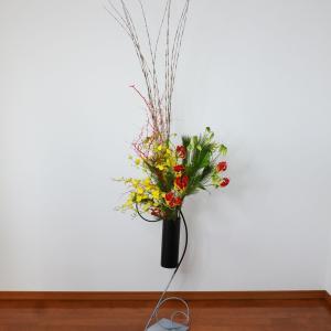 床からのお花をコンサートのお花に