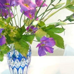 断捨離されたお母様の器、その2(ブルー、紫色のきれいな色合いに)