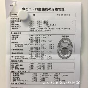 息子の歯の定期検診記録