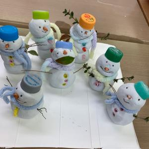 【2、3歳児対象】おやこ英語 snowmanを作ったよ