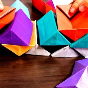 掛け算の概念と折り紙の具体物