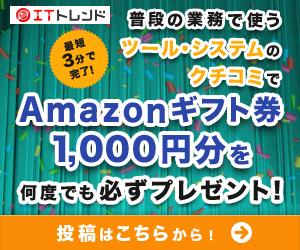 【モッピー】ITトレンドのレビュー投稿で750円+アマギフ1000円GET!