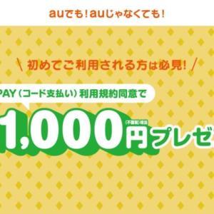 【ちょびリッチ】au PAYで1000円貰えて、支払いで更に880円も貰えちゃう神案件!