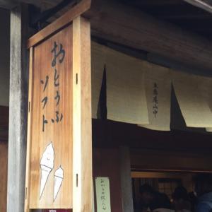 豆腐ソフトで一休み 豆腐庵山中