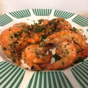【料理】シーフードは海水位の塩水で戻して調理!ぷりうまガーリンクソフトシェルシュリンプ